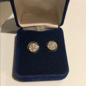 Lou Lou Gold Sparkly Round Earrings